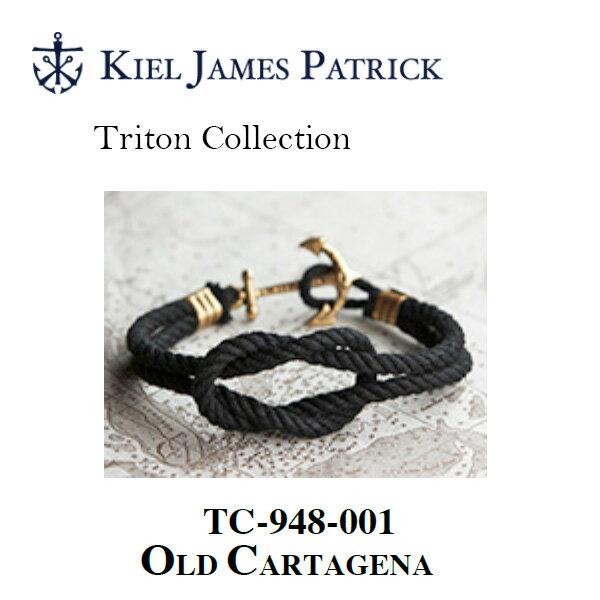 即日発送 キールジェイムスパトリック KIEL JAMES PATRICK ロープ ブレスレット Triton Collection OLD CARTAGENA(BLK) TC-948-001