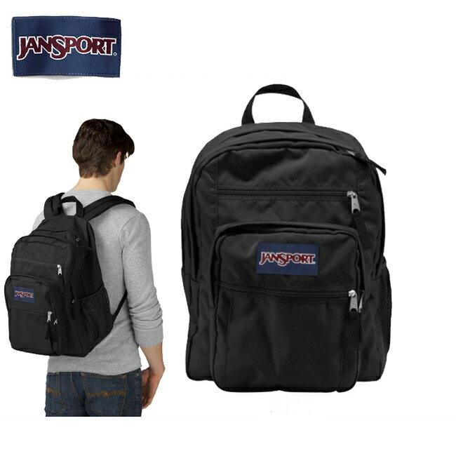 【スマホエントリ限定P10倍12/19 09:59迄】ジャンスポーツ jansport BIG STUDENT(ビッグステューデント) BLACK TDN7008 【カバン】 リュック バックパック デイパック お買い得