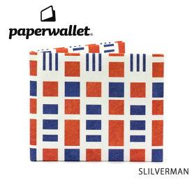 PaperWallet ペーパーウォレット ウォレット Artist Wallet (Slim Wallet)/SLILVERMAN ART060SIL 【雑貨】財布 タイベック素材 紙の財布【メール便・代引不可】 【clapper】