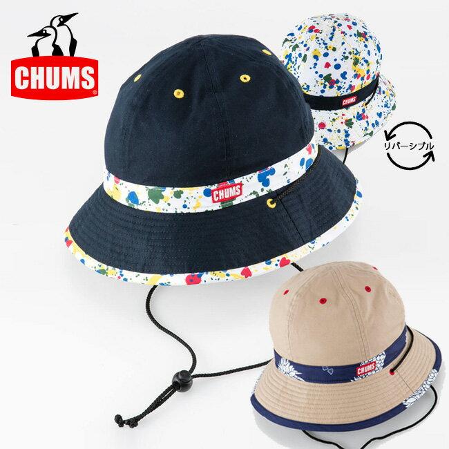 【スマホエントリーでP10倍 8月12日10時〜】即日発送 チャムス chums ハット Reversible Print Hat リバーシブルプリントハット CH05-1116 【帽子】フェス アウトドア正規品