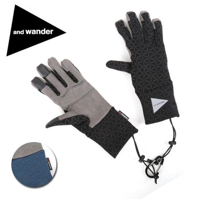アンドワンダー and wander polartec gloves AW83-AA050 【アウトドア/手袋/キャンプ/ハイキング】 【clapper】