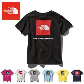 THE NORTH FACE ノースフェイス S/S Square Logo Tee ショートスリーブスクエアロゴティー(キッズ/ベビー) NTJ81827 【日本正規品/Tシャツ//ジュニア/子供/アウトドア】