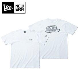 NEWERA ニューエラ SS COTTON TEE NE DELIVERY BOX WHI BLK コットン Tシャツ ニューエラ オールド デリバリー ボックス ホワイト×ブラック 11901392 【アウトドア/Tシャツ】【メール便・代引不可】
