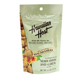 【Hawaiian Host】ハワイアンホースト マウイオニオン&ガーリック マカダミアナッツ スタンドアップバッグ 4.5oz(127g) 【YDKG-kd】【RCP】【ハワイ 土産】