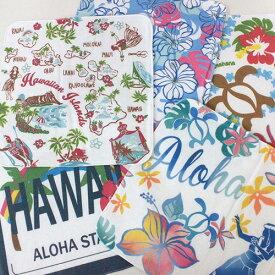 ハンドタオル かわいい おしゃれ Kahiko ハワイアン ガーゼ ハンカチ(ハイビスカス/花柄/可愛い/プチギフト/お礼)【ハワイアン 雑貨 ハンカチ】