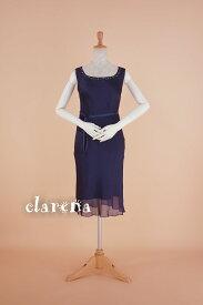 874d5f6ead85a レディース パーティー ドレス 送料無料 ワンピース濃紺 フォーマルドレス 9号(CLG398)(USED