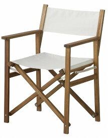 【メーカー直送】 パティオ ディレクターチェアー 椅子 イス NX-601WH 東谷 東谷ライトファニチャー 【送料無料】