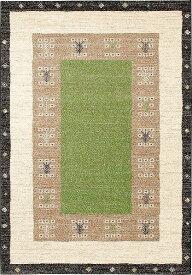 【メーカー直送】 3306 Prevell ラグ カーペット マット ヴォルテ ナチュラルグリーン 約60×90cm