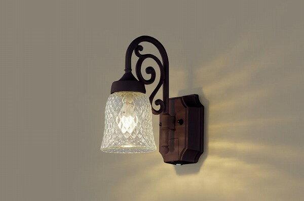 LGWC85203AK パナソニック ポーチライト ダークブラウンメタリック LED(電球色) センサー付 (LGWC85203A 推奨品)