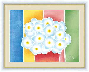 【メーカー直送】 絵画 額絵 写真立て 据置型 洋画 青い花の鉢植え 春田 あかり(はるた あかり) フォトフレーム 20×15.0cm