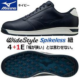 【2020年モデル】【ミズノ】ワイドスタイル スパイクレス シューズWide Style Spikeless SHOES51GQ2045/Navy/ネイビー24.5〜27.0、28.0、29.0cm幅広:4+1E(F相当の方向け)/メンズ【MIZUNO】【日本正規品】【送料無料】
