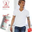 tシャツ メンズ HANES ジャパンフィット2枚組 vネック 半そで 下着 肌着 インナー 白 ホワイト 半袖 コットン100% ビッグサイズ XL XXL 無地 Tシャツ 半そで 厚手 厚地 Hヘ