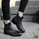 送料無料 大人のサイドゴアショートレインブーツ 長靴 ショートブーツ レディース メンズ 雨 雨具防水 サイドゴアブー…