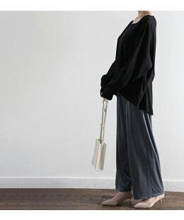 コーデの幅が広がる♪ワッフルサーマルプルオーバービッグシルエットオーバーサイズ春長袖ワッフルサーマルクルーネックカジュアルきれいめゆったりカットソートレンドブラックホワイトベージュブラウン韓国ファッションMLXLctl008