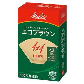 Melita メリタ エコ コーヒーフィルター ペーパー 1×1G 1人用