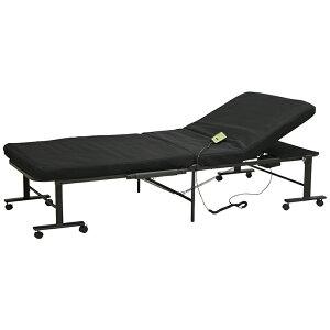 電動収納ベッド 収納ベッド 収納 ベッド キャスター付き 省スペース リクライニング 折り畳み式 簡易収納 シングルサイズ 送料無料