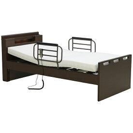 電動ベッド シングル 介護ベッド リクライニングベッド 手すり付 ベッド 国産ウレタンマットレス付 リモコン操作 2モーター 非課税 介護 LED照明付 コンセント付 民泊 送料無料