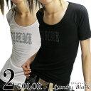 【在庫処分SALE】現品限り!Luxury Black(ラグジュアリーブラック)ラメ加工ロゴUネックTシャツ/全2色お兄系 メンスパ …