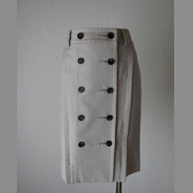 BODY DRESSING Deluxe  ベージュ前ボタンタイトスカート