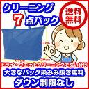 7点衣類クリーニング東北・関東・中部・関西宅配【送料無料】大きなバッグ・消臭・染み抜き無料120cm以下の子供服が3枚で大人1点分(2セ…