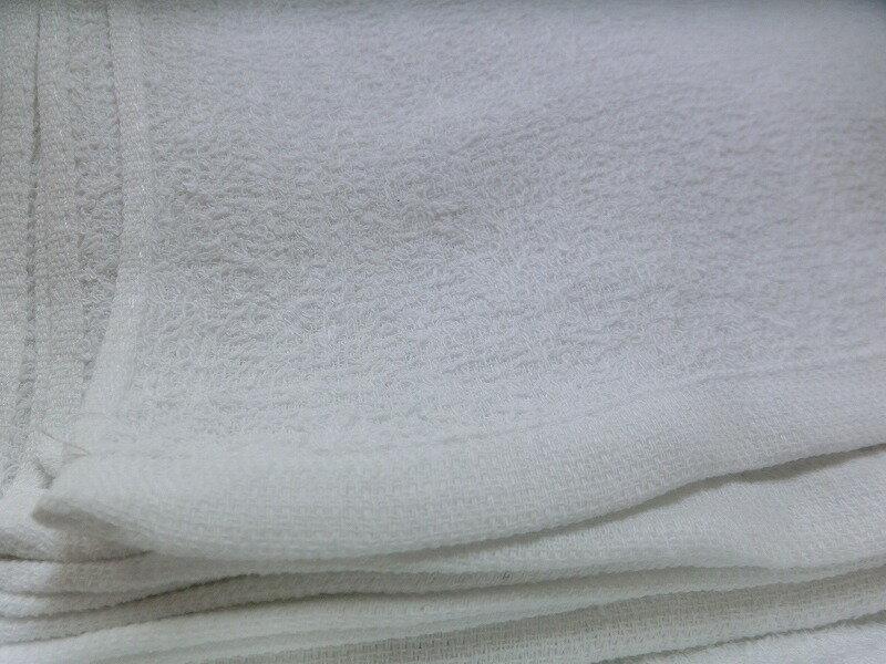 タオル 白 200匁(62.5g) 1枚【業務用 総パイル織り お徳用タオル】