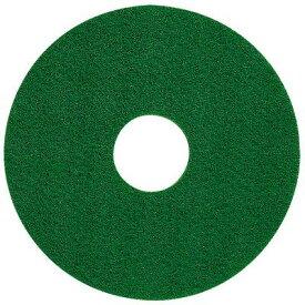 住友3M フロアパッド 15インチ 緑 1枚 グリーンスクラビングパッド 【業務用 フロアポリッシャー用パッド 14inch】
