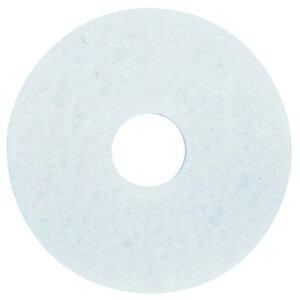 3Mジャパン フロアパッド 11インチ 白 5枚 ホワイトスーパーポリッシュパッド【業務用 ポリッシャー用 スリーエムジャパン パット11inch】