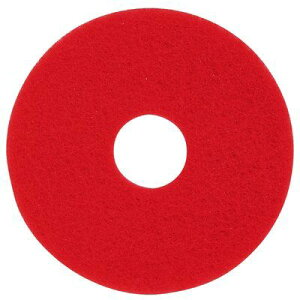 3Mジャパン フロアパッド 15インチ 赤 5枚 レッドバッファーパッド【業務用 ポリッシャー用 スリーエムジャパン パット 15inch】