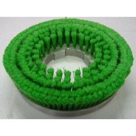 ムサシ カーペット用メタルバックナイロンブラシ緑 12インチ(緑先割れ・プレート付き) 【業務用 絨毯用 ジュウタン用 ポリッシャー】
