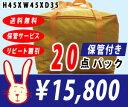 【送料無料】宅配クリーニング 保管付き 20点パック