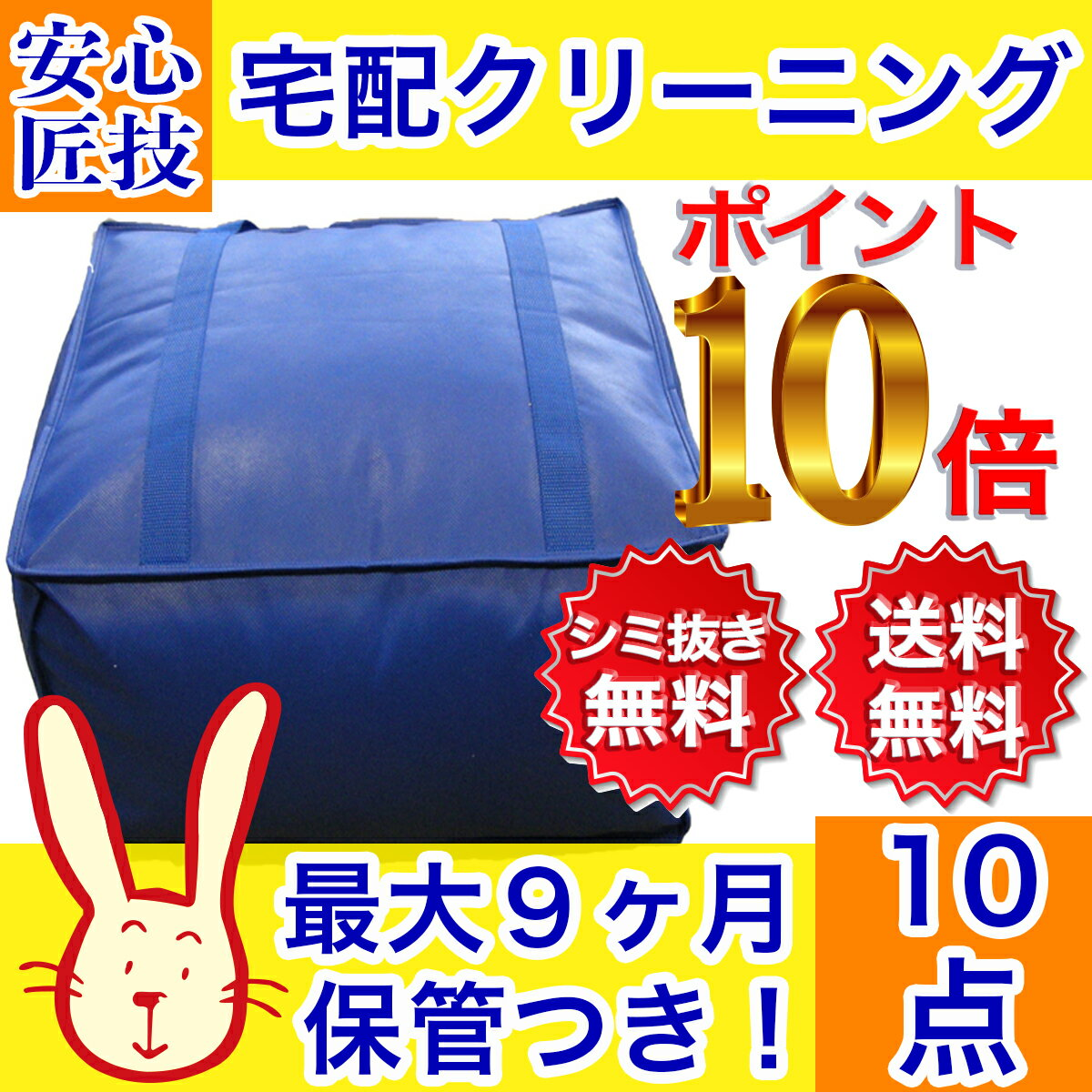 【40%OFF!】クリーニング 保管 宅配 最大9ヶ月長期保管コース 10点パック 送料無料