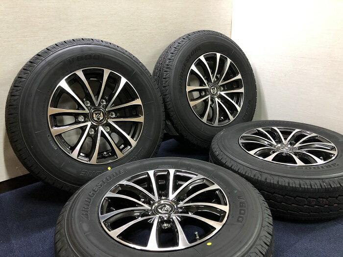 あす楽 新品 ラジアル 車検対応 ブリヂストン V600 195/80R15 107/105L 200系 ハイエース ウェッズ Weds ライツレー RIZLEY ホイール&タイヤセット 195 80 15
