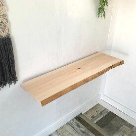無垢 棚板 幅1m 奥行約37cm 厚み約4.5cm 皮付 桧 天板 cl0037