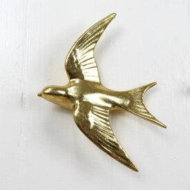 ウォールデコレーション バードL ゴールド ツバメ オーナメント 飾り アンティーク m451035l