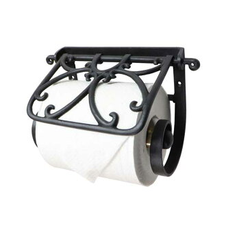 Elegant European design with brass toilet paper holder black