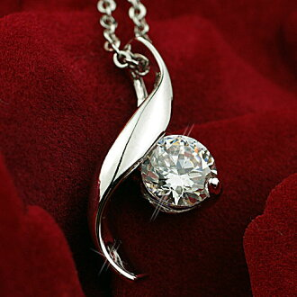 Princess leaf cz diamond necklace 0.8 ct birthday wedding anniversary gifts necklace pendant silver