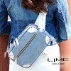 来夢(LIME L1994-06)【Ivory】Cowhide Leather Cross Body 【pure made in japan】Leather bum bag【Ladies women】hip sack