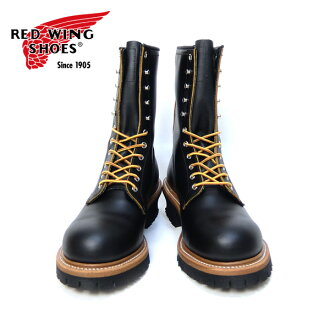 """RED WING Redwing [9210] logger boots 9 """"Logger (Steel-toe) black"""