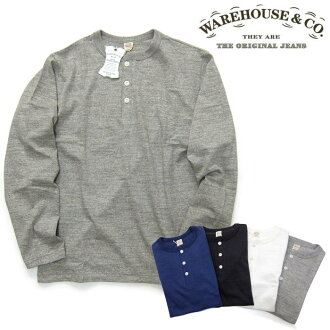 Wear house WAREHOUSE [5907] long sleeves henley neck T-shirt Ron T