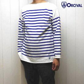 メンズ3-5 オーシバル コットン ラッセル パネルボーダー バスクシャツ オーチバル Orcival