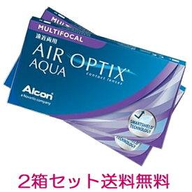 【2箱】【遠近両用コンタクトレンズ】【ポスト投函発送・送料無料】エアオプティクスアクア遠近両用 2週間使い捨てコンタクトレンズ 6枚入 2箱セット(2ウィーク/2weekマルチフォーカル)(AIR OPTIX AQUA MULTIFOCAL)