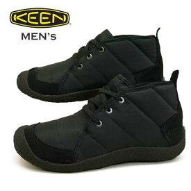 キーン KEEN HOWSER QUILTED CHUKKA ハウザー キルテッド チャッカ 1021864 黒 ブーツスニーカー メンズ