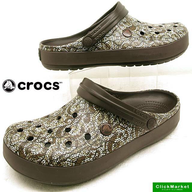 クロックス crocs crocband cable knit clog 203609-206 espresso クロックバンド ケーブルニット クロッグ サンダル メンズ/レディース