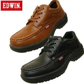 エドウィン EDWIN サイドジッパー 防水加工 ビジネス ウォーキングシューズ 7323 メンズ