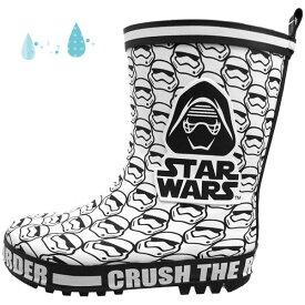 ディズニー スター・ウォーズ DISNEY STAR WARS 1063 白 レインブーツ 長靴 キッズ