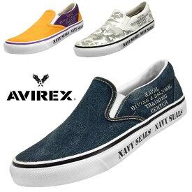 アビレックス AVIREX FREEDOM 3528 フリーダム スリッポン キャンバス スニーカー メンズ
