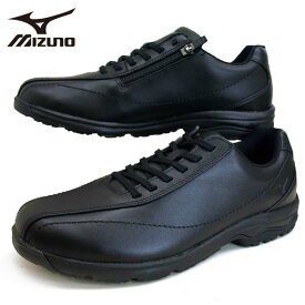 ミズノ MIZUNO LD40 IV ウォーキング 161909 黒 サイドファスナー 2E 本革 カジュアル メンズ