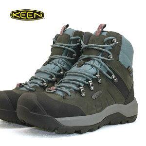 キーン KEEN REVEL IV MID POLAR 1023629 レヴェル フォー ミッド ポーラー 灰/青 WP 防水 防滑 保温 トレッキング 登山靴 レディース