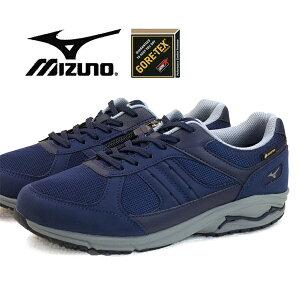 ミズノ MIZUNO LD AROUND M GTX ウォーキング 182614 紺 サイドファスナー 4E幅広 ゴアテックス 防水 メンズ