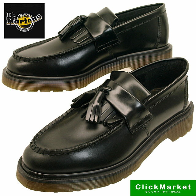 ドクターマーチン Dr.Martens ADRIAN SLIP ON 14573001 黒 キルトタッセル スリッポン レディース/メンズ